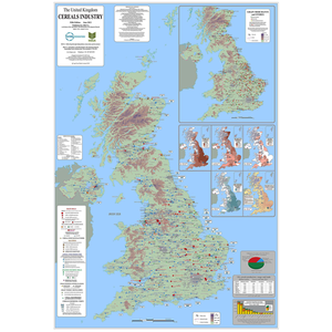 UK Cereals Industry Wall Map 2012