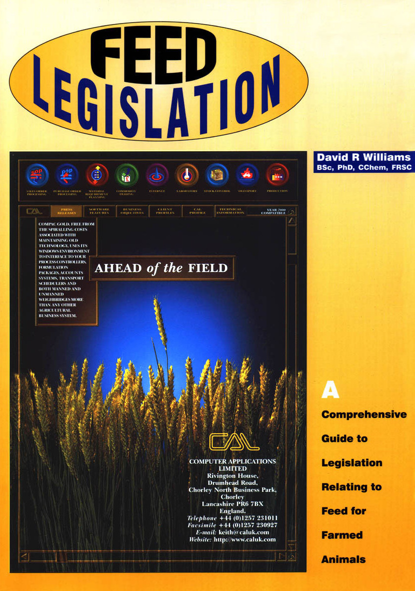 Feed Legislation (cover)